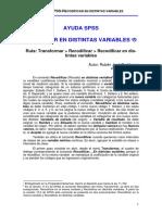 Ayuda SPSS-Recodificar en Distintas Variables