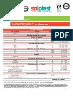 Ficha Duratermic Frambuesa