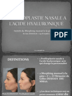Profiloplastie Nasale Hyaluronique