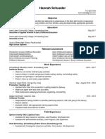 hannah 2017 resume