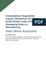 RIS Draft COP Managing Risks Stevedoring