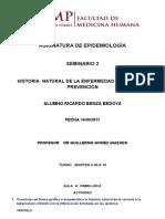 Historia natural de la enfermedad y niveles de prevención