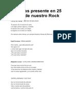 Malvinas Presente en 25 Temas de Nuestro Rock