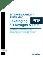 Interoperability Summary Leveraging 3D Designs Data White Paper