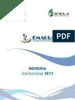Memoria Emagua  2013