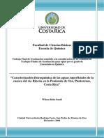 Caracterización Fisicoquímica de Las Aguas Superficiales