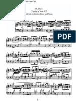 BWV92 - Ich hab in Gottes Herz und Sinn