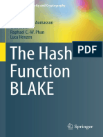 (Information Security and Cryptography) Jean-Philippe Aumasson, Willi Meier, Raphael C.-w. Phan, Luca Henzen (Auth.)-The Hash Function BLAKE-Springer-Verlag Berlin Heidelberg (2014)