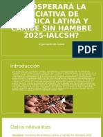 ¿Prosperará La Iniciativa de América Latina y Caribe Sin Hambre 2025-Ialcsh