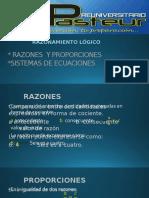 RAZONES Y PROPORCIONES-sistemas de Ecuaciones
