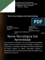 Teoría  tecnológica del Aprendizaje