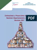 Proyeccion Poblacion Nic 2007
