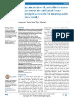 A Literature Review of Cost-effectiveness of Intravenous Recombinant Tissue Plasminogen Activator for Treating Acute Ischaemic Stroke