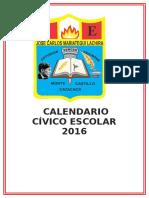 Calendario Civico Escolar 2016