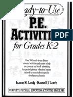 pe activities k-2 part 1