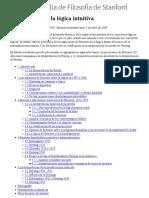 El Desarrollo de La Lógica Intuicional SEP 2009