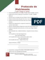 Ceremonia de Matrimonio - Protocolo 2