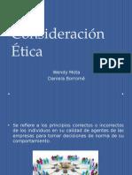 consideraciones etica