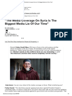 The Media Coverage on Syria is the Biggest Media Lie of Our Time