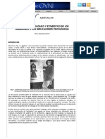 El Análisis Morfológico y Estadístico de Los Humanoides y Sus Implicaciones Psicológicas