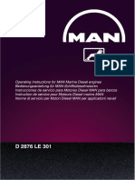 319955834 Operating Instructions for MAN Marine Diesel Engines D2876 LE 301