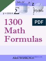 shortcut Maths Formulas