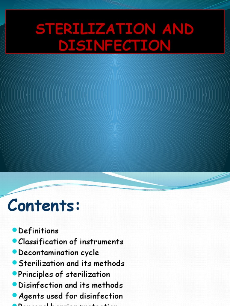 Sterilization and Disinfection | Sterilization (Microbiology
