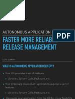 Autonomous App Delivery Rootconf