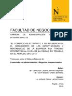 El Comercio Electronico y Su Influencia en El Crecimiento de Las Importaciones Por Internet en El Peru