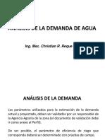 ANÁLISIS DE LA DEMANDA PARA UN PROYECTO DE RIEGO.UNALM