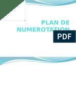 Plan de Numerotation