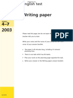 2003 KS3 Writing Test Booklet