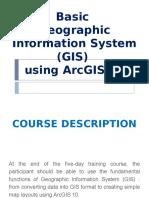 Basic GIS Course Outline Arc10