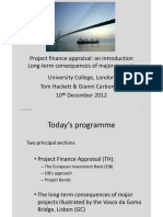 Project finance appraisal