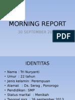 Morning Report 30 September