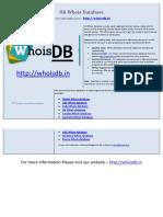 UK Whois Database - Whoisdb.in