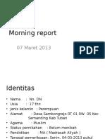 Morning Report 07032013