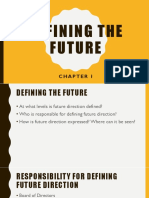Chap 1 - Defining the Future