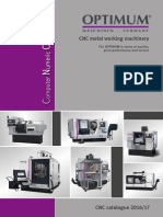 Optimum CNC Metal Working Machinery Catalogue 2016-17