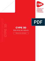 CYPE 3D - Memória de Cálculo