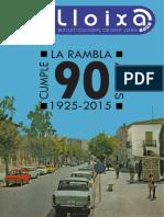 LLOIXA. Número 180, abril/abril 2015. Butlletí informatiu de Sant Joan. Boletín informativo de Sant Joan