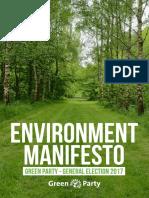 Green Party Environment Manifesto