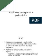 Modelarea Conceptuala a Prelucrarilor