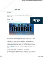 A Time of Trouble