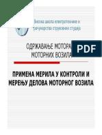 11 - Primena Merila u Kontroli i Merenju Delova Motora i MOTORNOG VOZILA