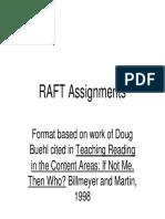 rafts handouts