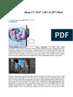 Adobe Photoshop CC 2017 v18.1.0.207 Final Full Crack