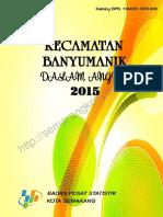 Kecamatan Banyumanik Dalam Angka 2015