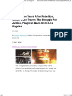 Twenty-Five Years After Rebellion, Gang Peace Treaty_ the Struggle for Justice, Progress Goes on in Los Angeles