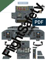 DHC-8 300 (EFIS) Flight Deck